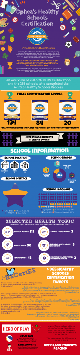 Infographic illustrating the Healthy Schools Certification audit process