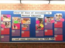 Highgate Public School Healthy Schools active calendar board
